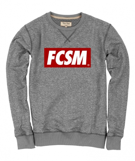 Свитшот FCSM dark grey-Серый-S