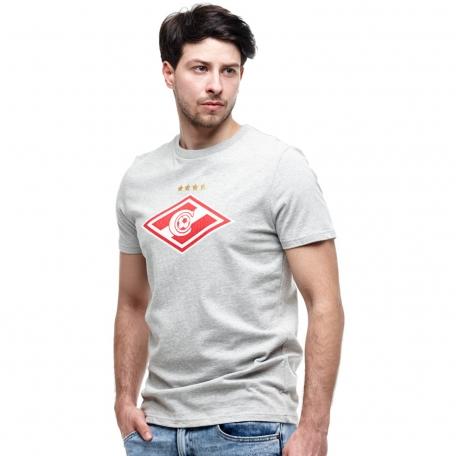 Футболка Спартак серая-Серый-S