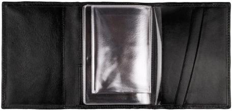 Автопортмоне черное кожаное с гладиатором