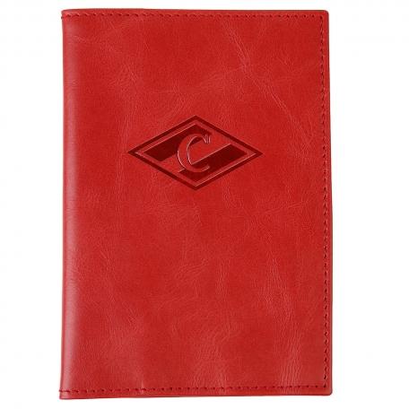 Обложка на паспорт Спартак красная с ромбом