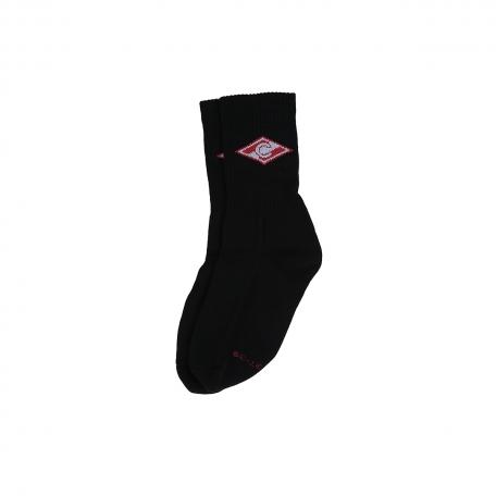 Носки высокие с ромбом-Черный-34-36