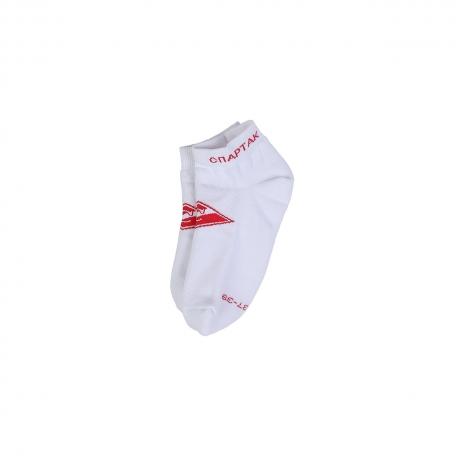 Носки короткие с ромбом-Белый-34-36