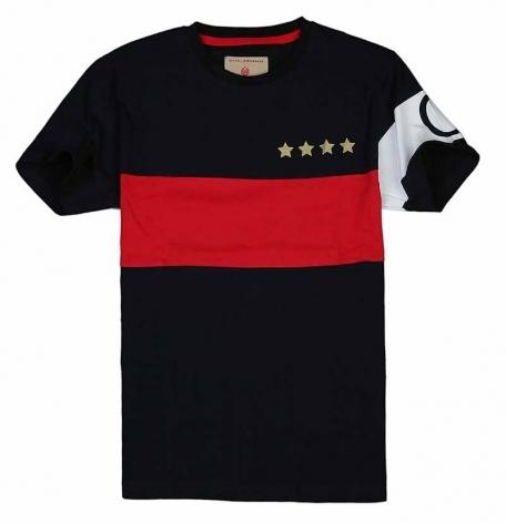 """Футболка """"Звезды"""" черная-Черный-XL"""