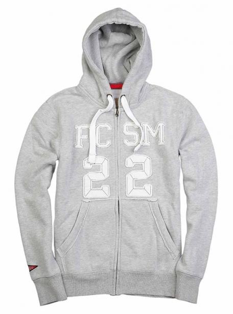 Толстовка на молнии FCSM 22-Серый-S