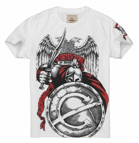 Футболка Гладиатор-Белый-L