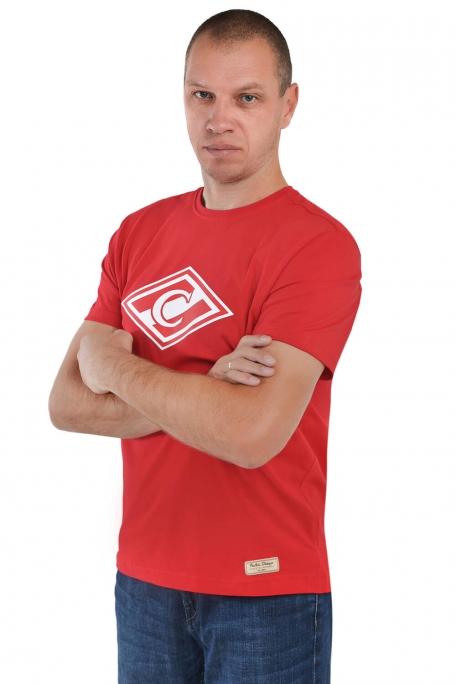 Футболка ромб красная-Красный-XS