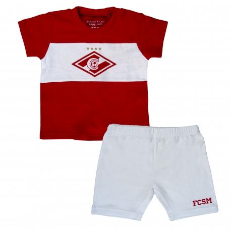 Детская форма шорты+футболка Спартак Москва-Красно-белый-12-18
