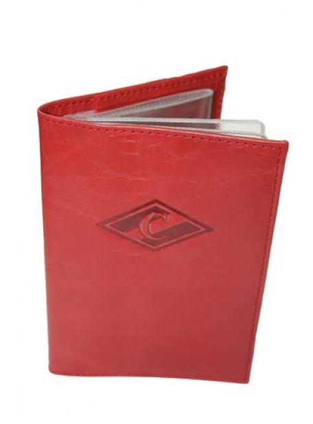 Обложка для автодокументов красная