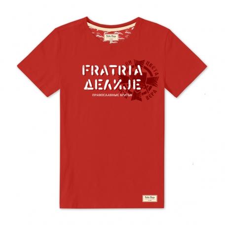 Футболка красная FRATRIA-DELIJE-Красный-S