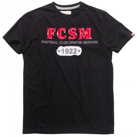 """Футболка чёрная """"FCSM 1922""""-Черный-S-40ж"""
