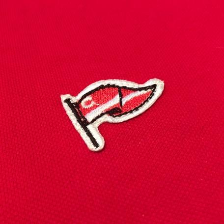 Поло флаг-Красный-S