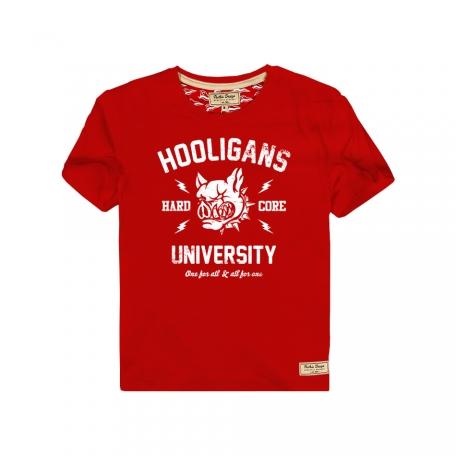 Футболка детская Hooligans University-Красный-92 см