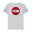 Футболка FCSM circle серая-Серый-S