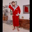 Халат мужской с капюшоном-Красно-серый-L/XL муж