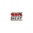 Значок 100% MEAT